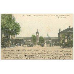 carte postale ancienne PARIS 19. Abattoirs de la Villette rue de Flandre 1905