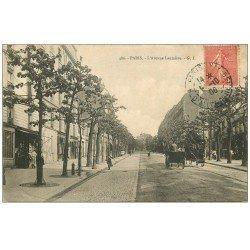 carte postale ancienne PARIS 19. Avenue Laumière 1906 Hippomobile à Impériale