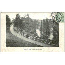 carte postale ancienne PARIS 19. Buttes Chaumont. 1906