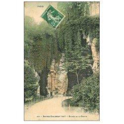 carte postale ancienne PARIS 19. Buttes Chaumont. Entrée de la Grotte 1908