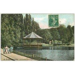 carte postale ancienne PARIS 19. Buttes Chaumont. Kiosque de Musique 1907