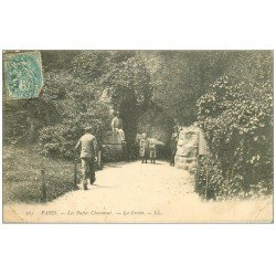 PARIS 19. Buttes Chaumont. La Grotte 1907
