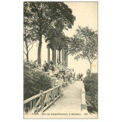 PARIS 19. Buttes Chaumont. Le Belvédére au Parc