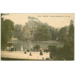 carte postale ancienne PARIS 19. Buttes Chaumont. Le Lac 338