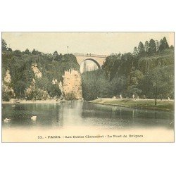 PARIS 19. Buttes Chaumont. Pont de Briques