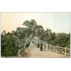 carte postale ancienne PARIS 19. Buttes Chaumont. Pont de briques. Acqua-Photo