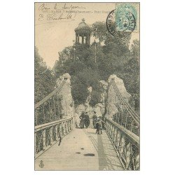 PARIS 19. Buttes Chaumont. Pont Suspendu 1909