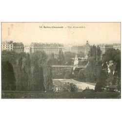 carte postale ancienne PARIS 19. Buttes Chaumont. Vue d'ensemble 1909