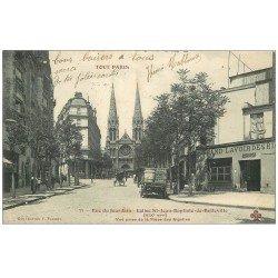 PARIS 19. Grand Lavoir Rue du Jourdain 1905. Collection Fleury