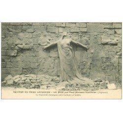 carte postale ancienne PARIS 20. Cimetière du Père Lachaise. Le Mur