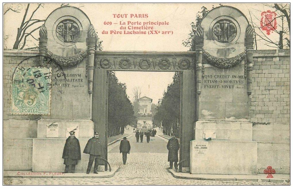 Paris 20 cimeti re p re lachaise gardiens porte for Ancienne maison close paris