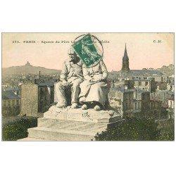 carte postale ancienne PARIS 20. Cimetière Père Lachaise. Le Déclin 1909