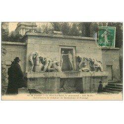 carte postale ancienne PARIS 20. Cimetière Père Lachaise. Monument aux Morts 1914 par Bartholomé et Formigé