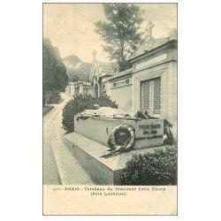 carte postale ancienne PARIS 20. Cimetière Père Lachaise. Tombeau Président Félix Faure