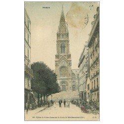 carte postale ancienne PARIS 20. Eglise Notre-Dame de la Croix de Ménilmontant