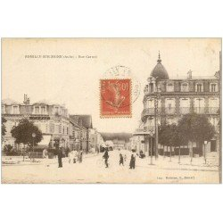 carte postale ancienne 10 ROMILLY-SUR-SEINE. Tabac Rue Carnot 1917