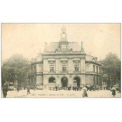 carte postale ancienne PARIS 20. La Mairie Place Gambetta