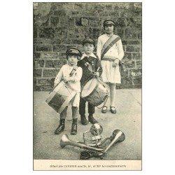 carte postale ancienne PARIS 20. L'Avenir Jeunes Musiciens de l'Arrondissement Ménilmontant