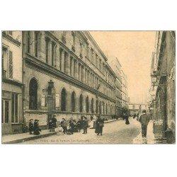 carte postale ancienne PARIS 20. Les Ecoles rue de Tlemcen 1906