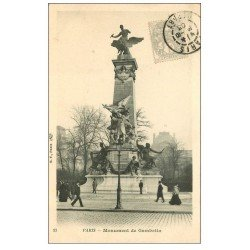 PARIS 20. Monument de Gambetta 1903