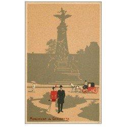 carte postale ancienne PARIS 20. Monument Gambetta