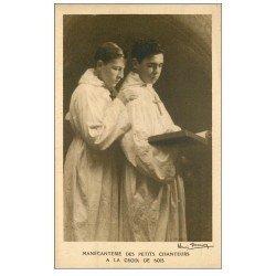 carte postale ancienne PARIS 20. Petits Chanteurs Croix de Bois 68 rue des Rigoles