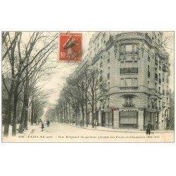 carte postale ancienne PARIS 20. Rue Belgrand 1914
