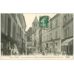 PARIS 20. Rue Saint-Blaise Eglise Saint-Germain de Charonne 1913