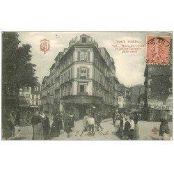 carte postale ancienne PARIS 20. Rues du Liban et Julien Lacroix 1904. Collection Fleury