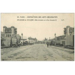 carte postale ancienne PARIS EXPOSITION DES ARTS DECORATIFS 1925. Esplanade Invalides 28