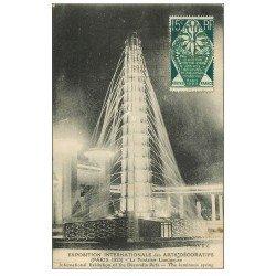 carte postale ancienne PARIS EXPOSITION DES ARTS DECORATIFS 1925. Fontaine Lumineuse