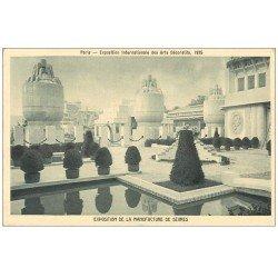 carte postale ancienne PARIS EXPOSITION DES ARTS DECORATIFS 1925. Manufacture de Sèvres