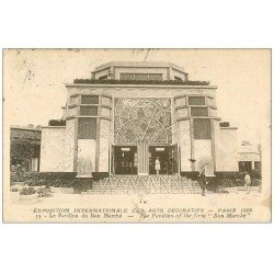 carte postale ancienne PARIS EXPOSITION DES ARTS DECORATIFS 1925. Pavillon Bon Marché