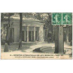 carte postale ancienne PARIS EXPOSITION DES ARTS DECORATIFS 1925. Pavillon Commissariat Général
