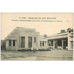 carte postale ancienne PARIS EXPOSITION DES ARTS DECORATIFS 1925. Pavillon du Collectionneur