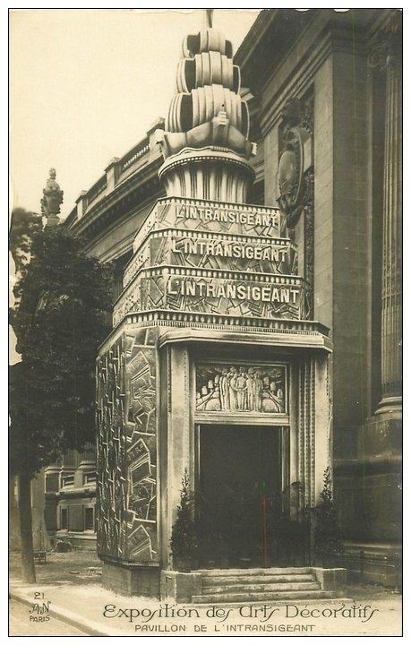 carte postale ancienne PARIS EXPOSITION DES ARTS DECORATIFS 1925. Pavillon Intransigeant