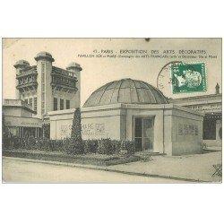 carte postale ancienne PARIS EXPOSITION DES ARTS DECORATIFS 1925. Pavillon Sue et Mare