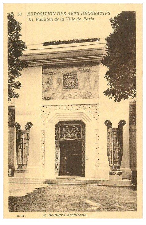 PARIS EXPOSITION DES ARTS DECORATIFS 1925. Pavillon Ville Paris