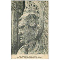 carte postale ancienne 10 SAINT-BERNARD. Abbé de Clairvaux 1929 Patron du Curé de Villemomble du Campanille