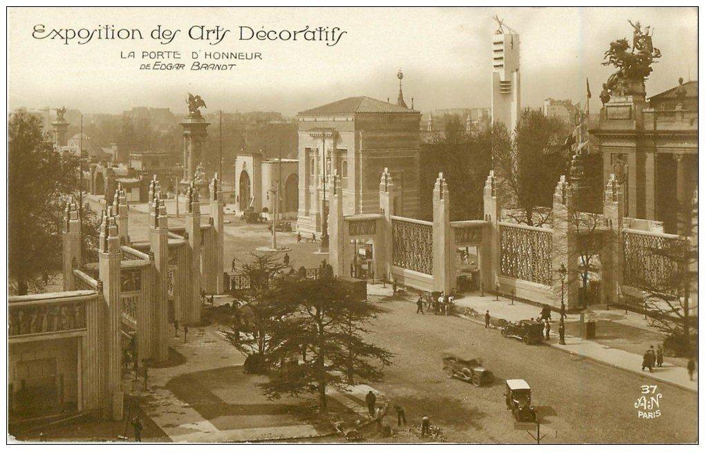 PARIS EXPOSITION DES ARTS DECORATIFS 1925. Porte d'Honneur