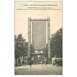 carte postale ancienne PARIS EXPOSITION DES ARTS DECORATIFS 1925. Porte Orsay