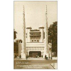 carte postale ancienne PARIS EXPOSITION DES ARTS DECORATIFS 1925. Porte Université