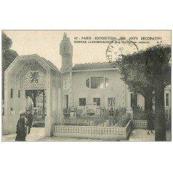 carte postale ancienne PARIS EXPOSITION DES ARTS DECORATIFS 1925. Roseraie Luxembourgeoise