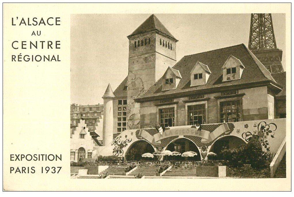 PARIS EXPOSITION INTERNATIONALE 1937. Alsace