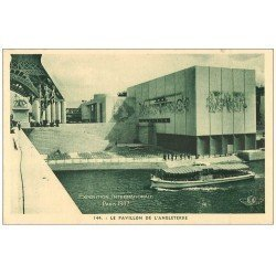 carte postale ancienne PARIS EXPOSITION INTERNATIONALE 1937. Pavillon Angleterre 144