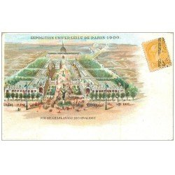 carte postale ancienne PARIS EXPOSITION UNIVERSELLE 1900. Esplanade Invalide. Timbre Anglais. Chaussure Nantes