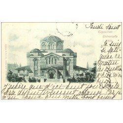carte postale ancienne PARIS EXPOSITION UNIVERSELLE 1900. Grèce. Timbre 10 centimes 1900