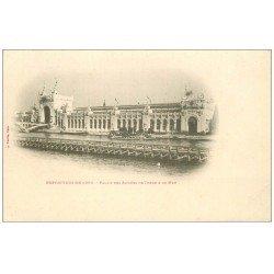 carte postale ancienne PARIS EXPOSITION UNIVERSELLE 1900. Palais Armée Terre et Mer