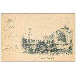 carte postale ancienne PARIS EXPOSITION UNIVERSELLE 1900. Palais de l'Electricité. Timbe 5 centimes 1903