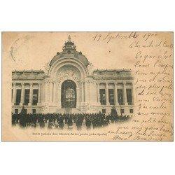 carte postale ancienne PARIS EXPOSITION UNIVERSELLE 1900. Palais des Beaux-Arts. timbre 10 centimes